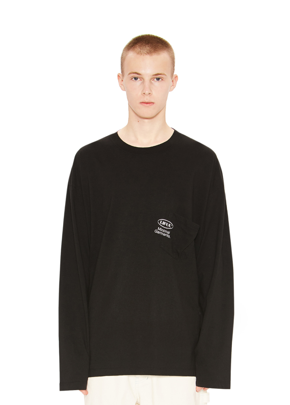 OVAL POCKET LONG SLEEVE TEE black