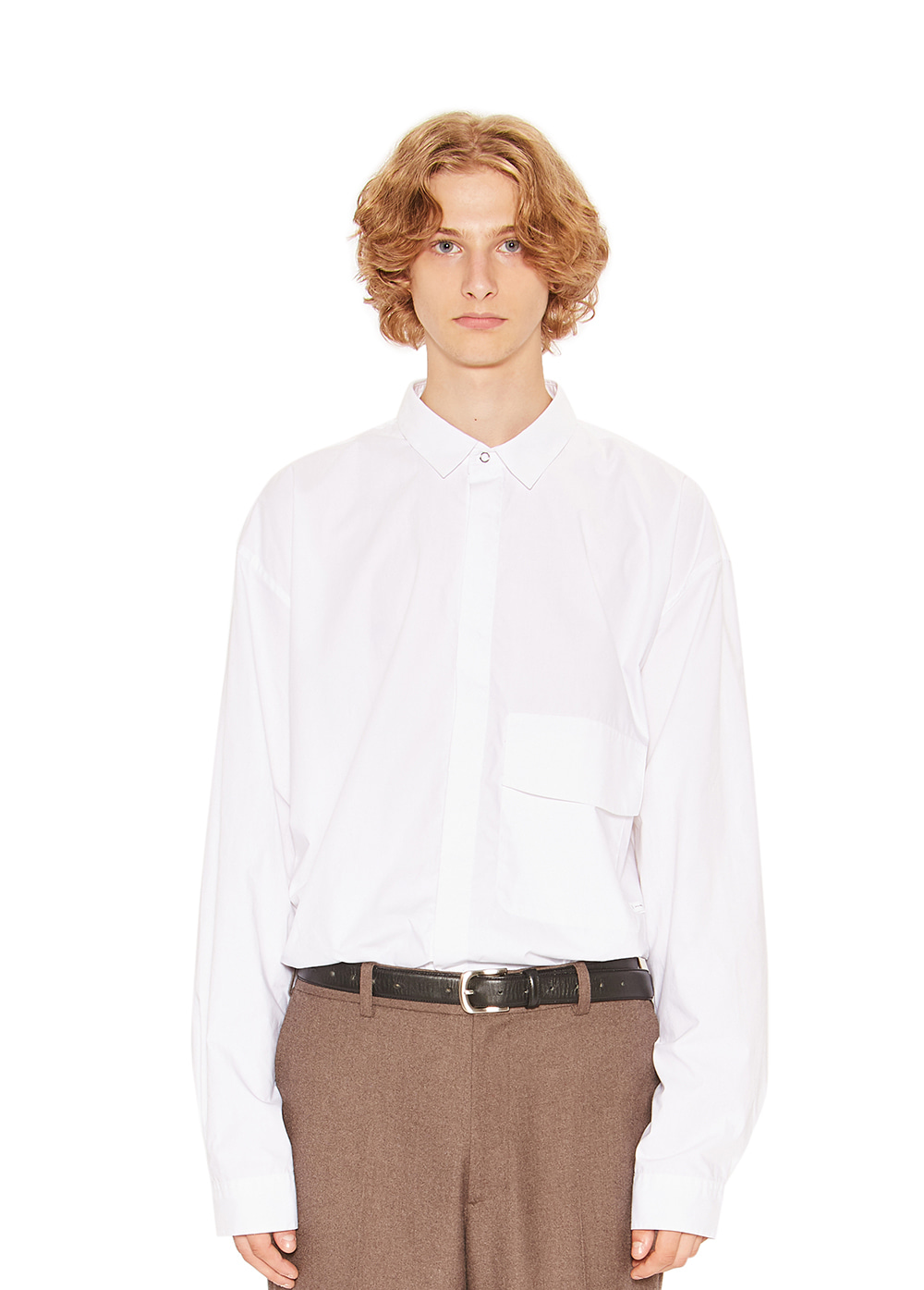MINIMAL POCKET SHIRT white