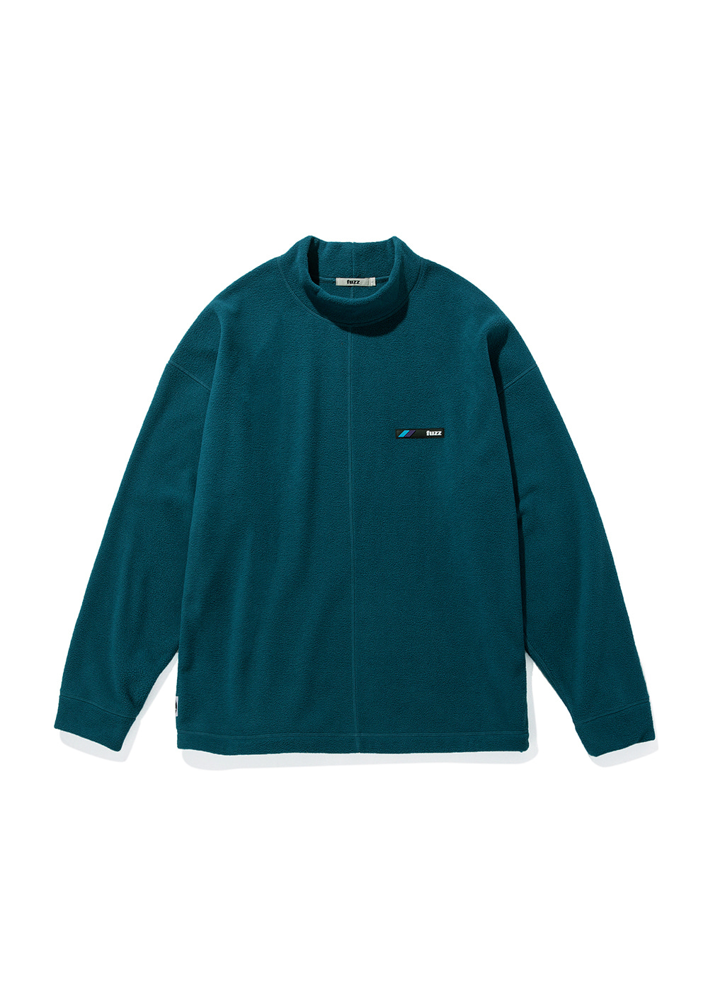 FUZZ FLEECE MOCKNECK L/S TEE dark teal