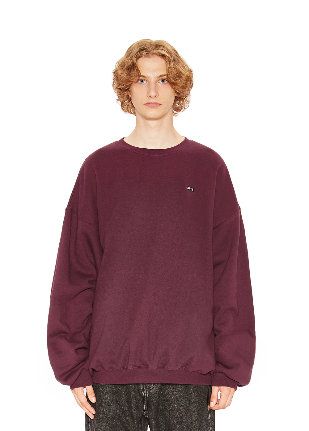 LIFUL BOX LOGO SWEATSHIRT burgundy