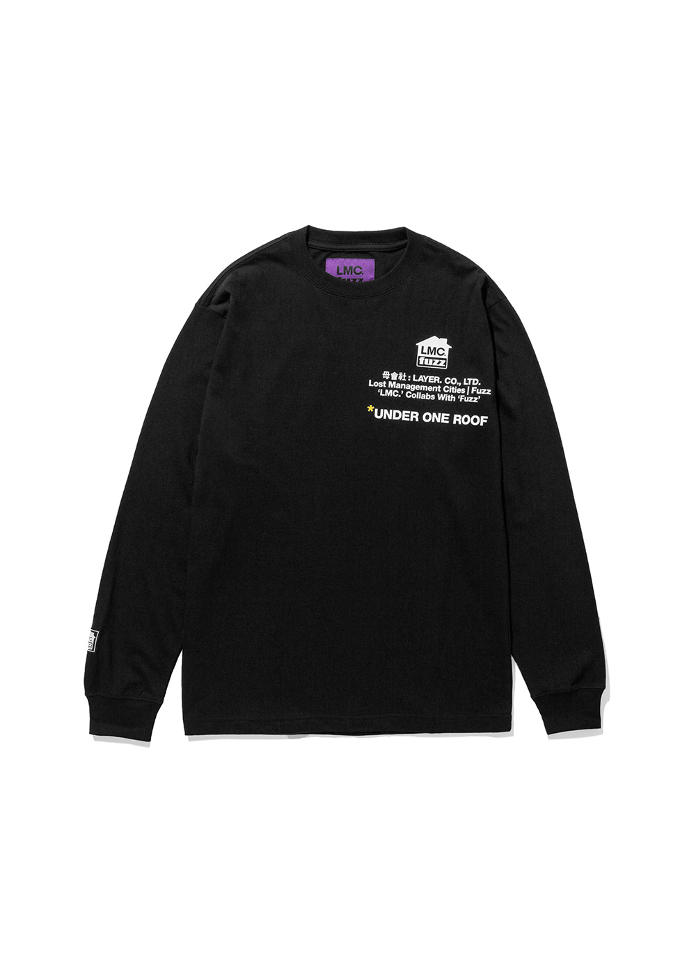 LMC x FUZZ HOUSE LONG SLV TEE black