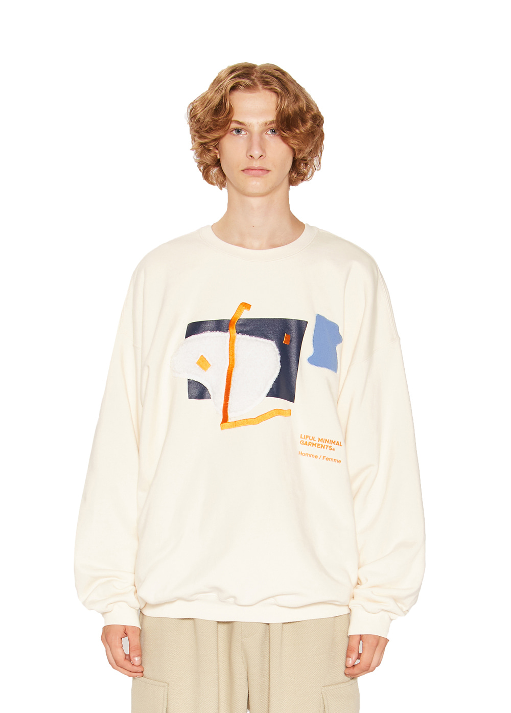 OBJET COLLAGE SWEATSHIRT cream