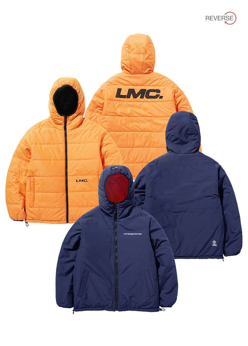 LMC THINSULATE REVERSIBLE HOODED JACKET or/nv