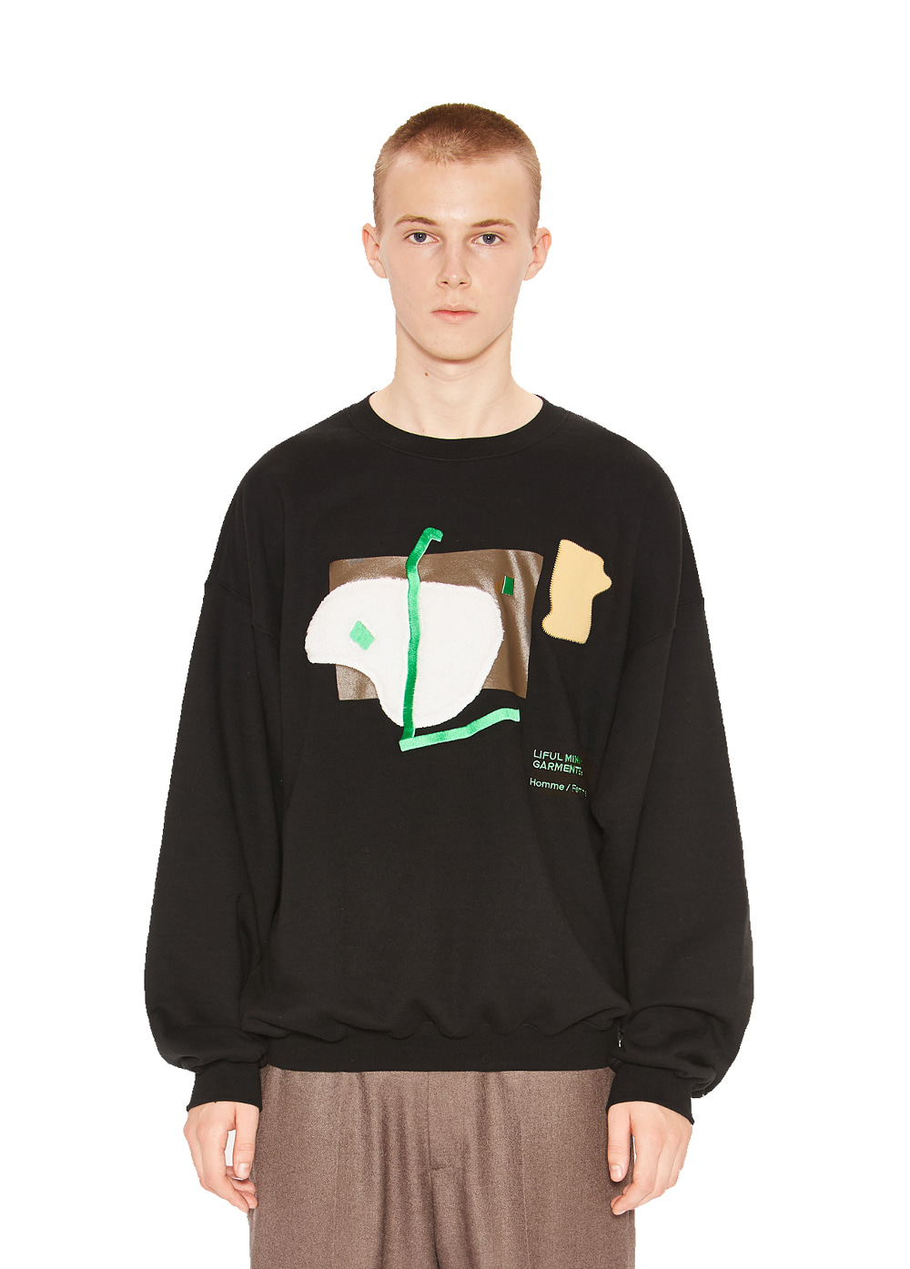 OBJET COLLAGE SWEATSHIRT black
