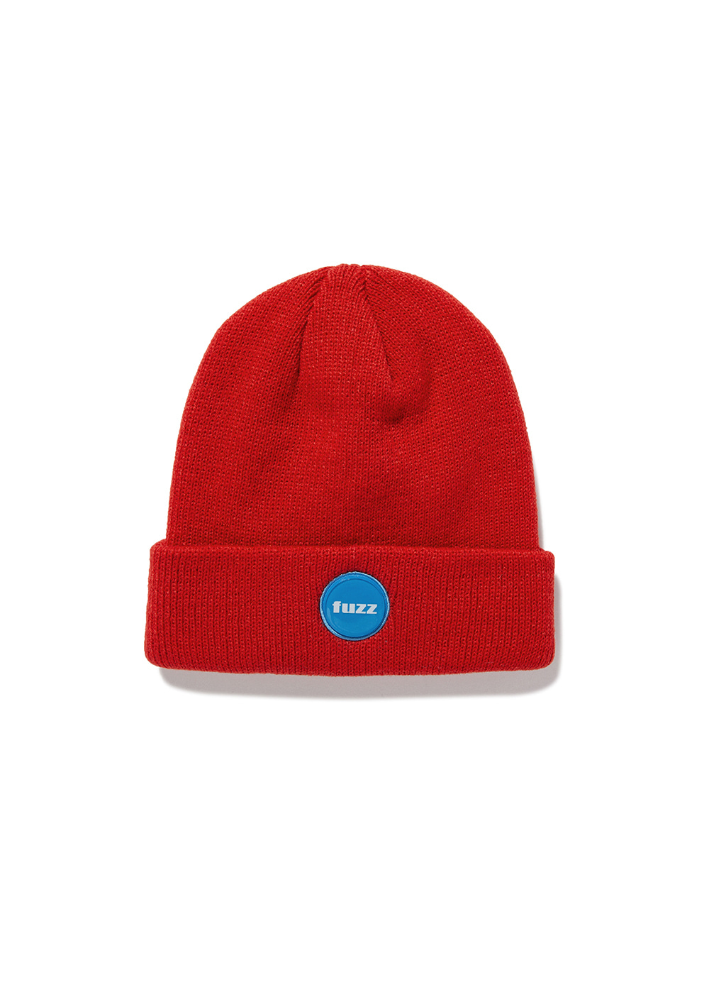 FUZZ EPOXY LABEL BEANIE red