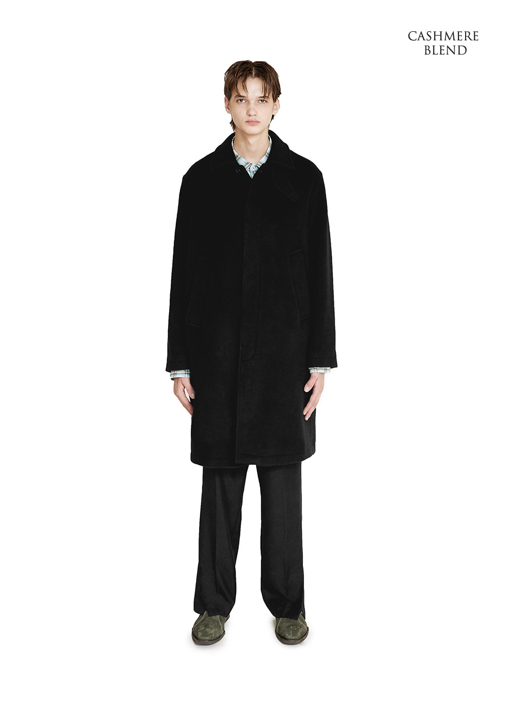 SINGLE SOUTIEN COAT black