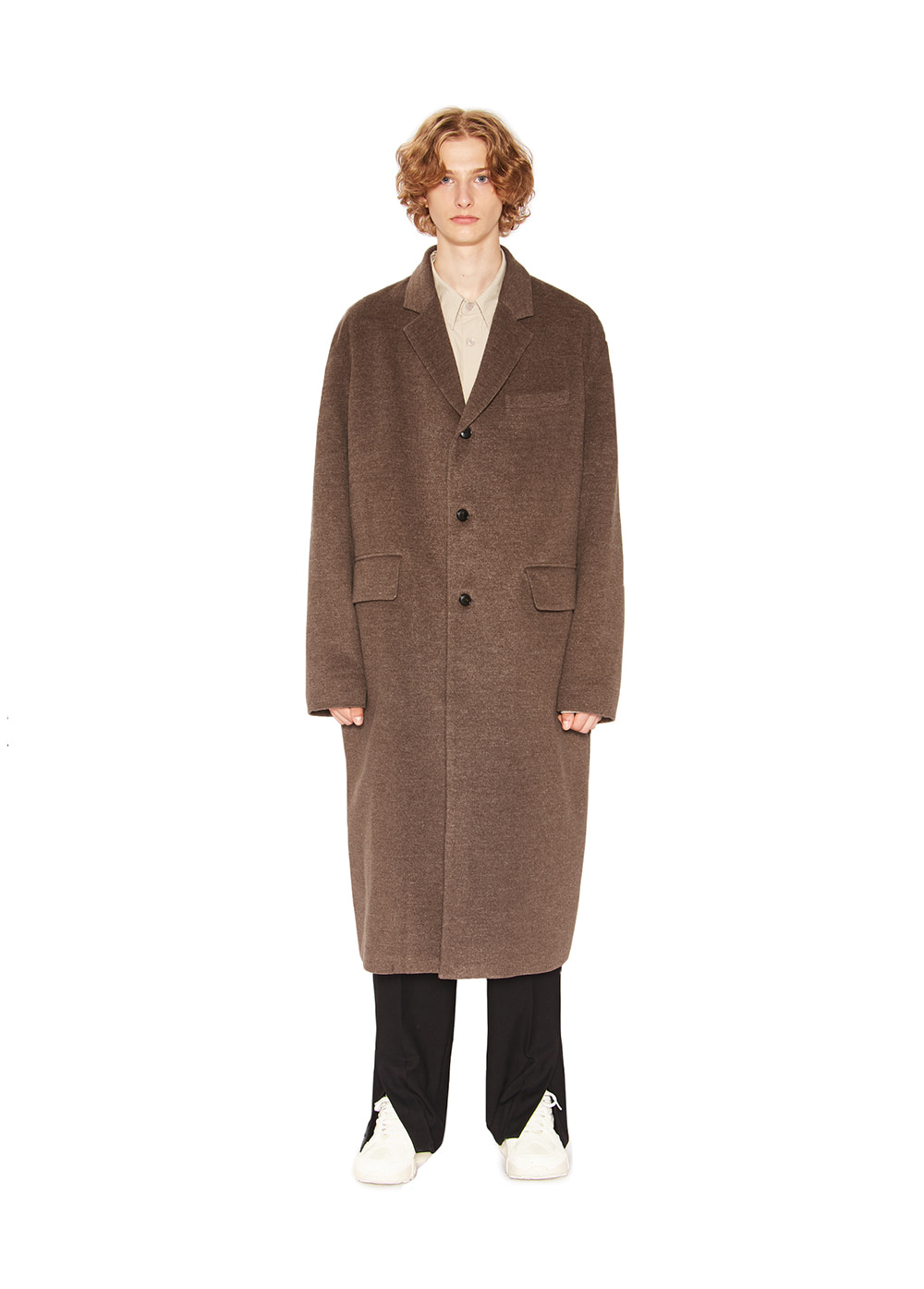 TAILORED LONG COAT brown
