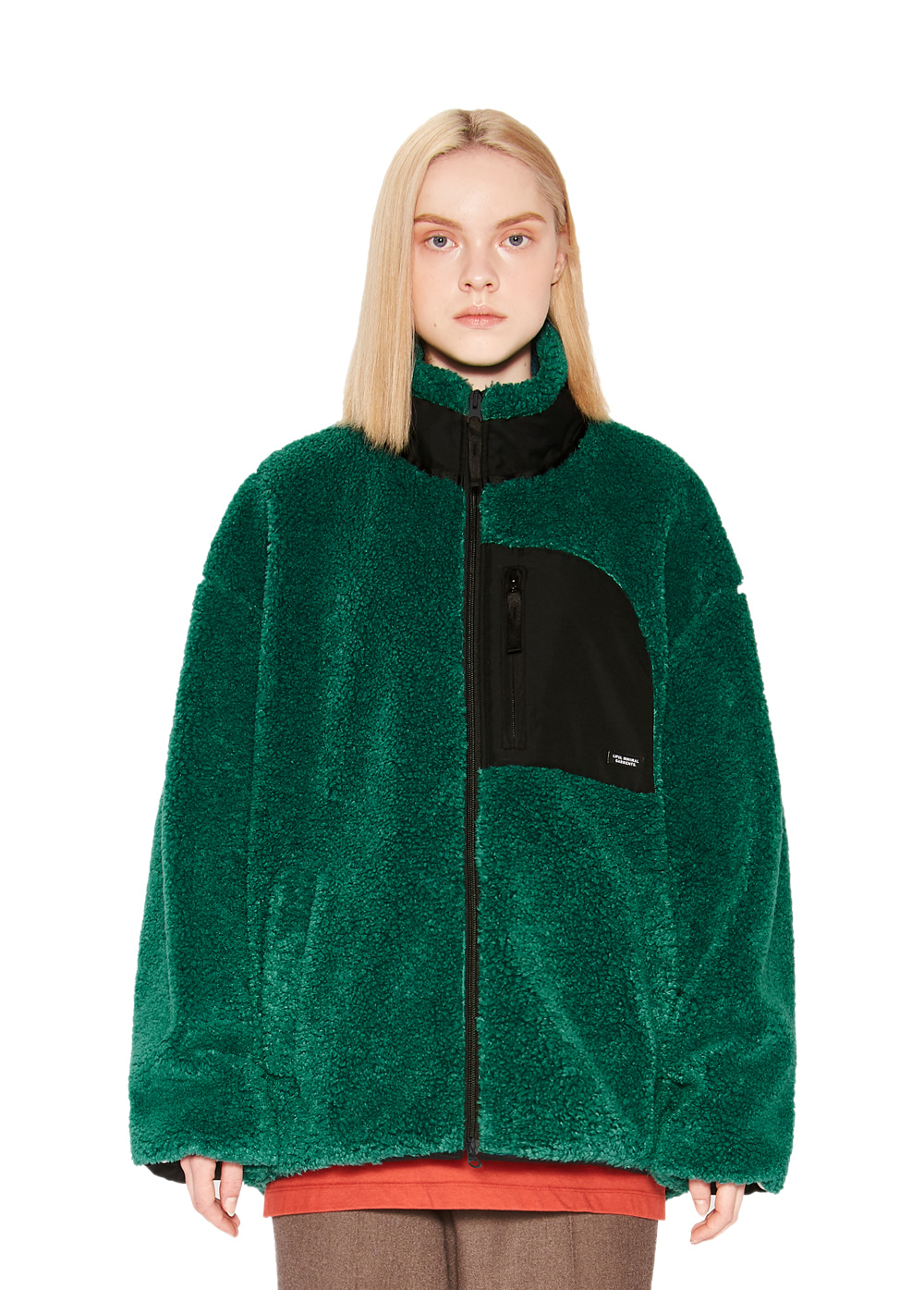 MINIMAL SHERPA JACKET green