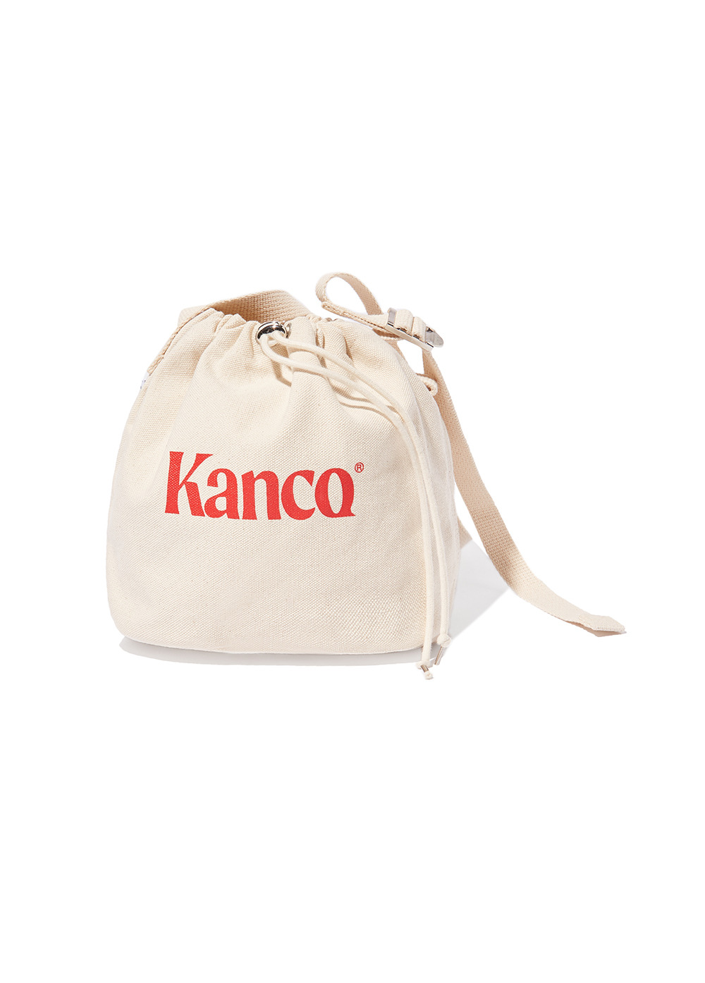 KANCO CANVAS CROSS BASKET BAG ivory