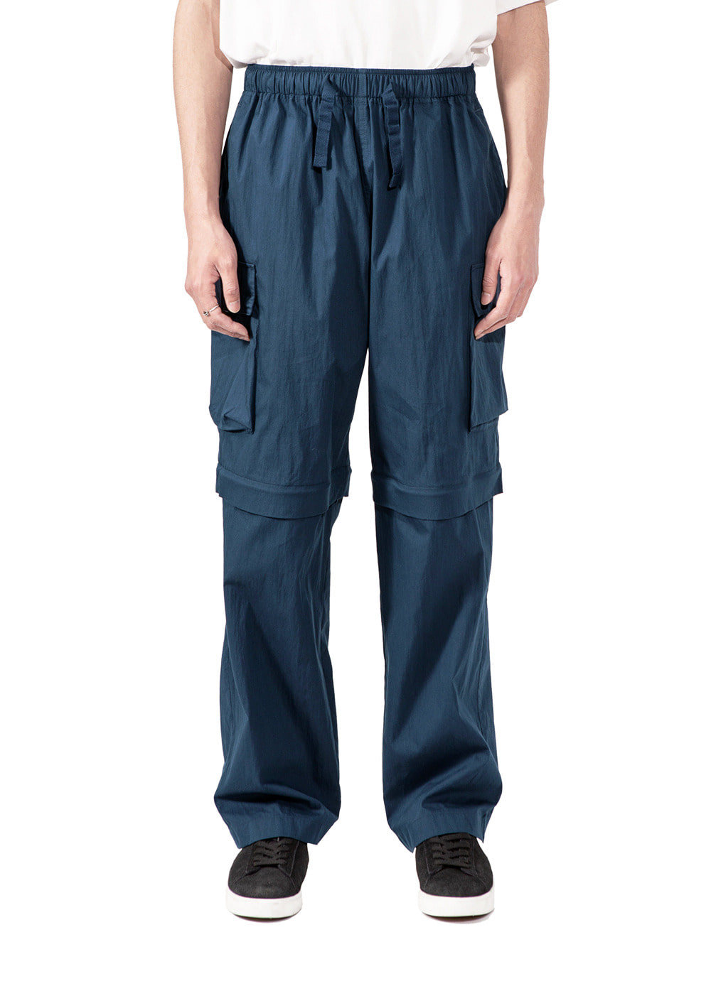 EASY CONVERTIBLE CARGO PANTS prussian blue