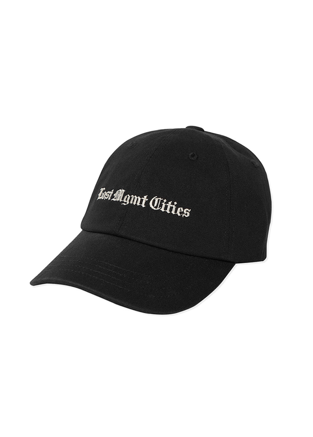 LMC TIMES WASHED 6 PANEL CAP black