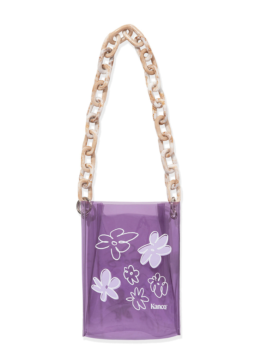 KANCO PVC TOTE BAG purple