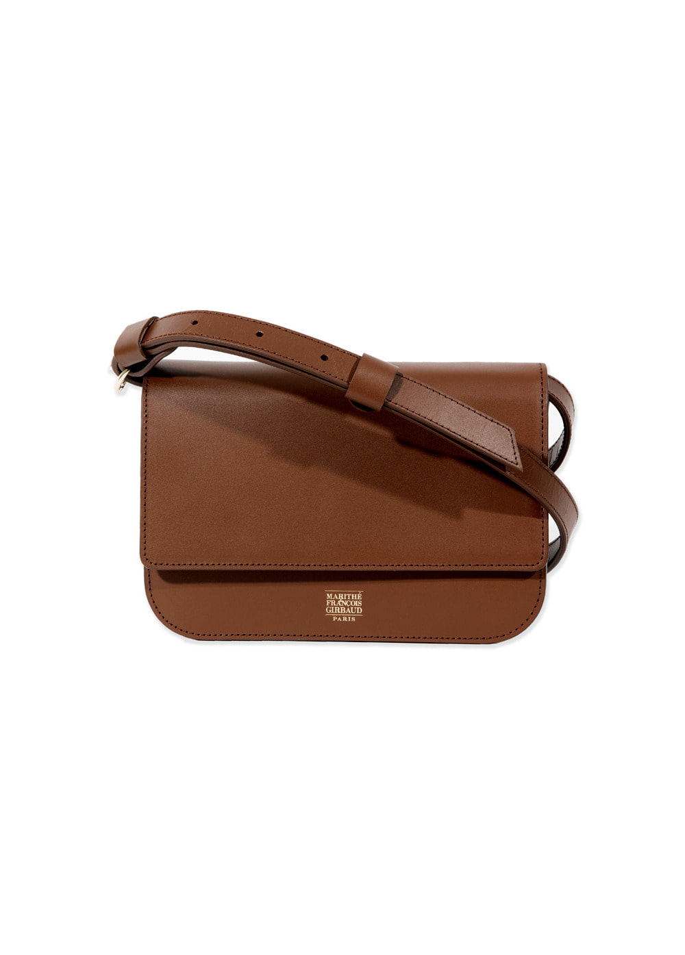 MARITHE LEATHER SHOULDER BAG tan