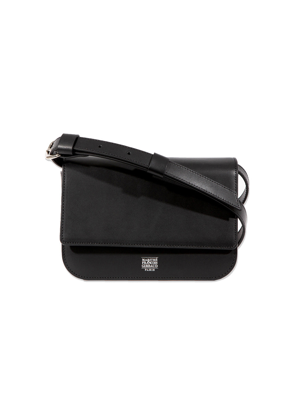 MARITHE LEATHER SHOULDER BAG black