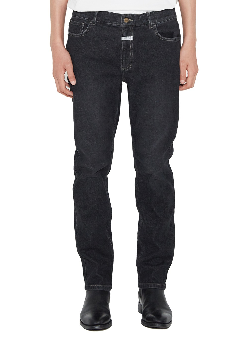 MARITHE ROLL POCKET JEANS (MEN) stone black
