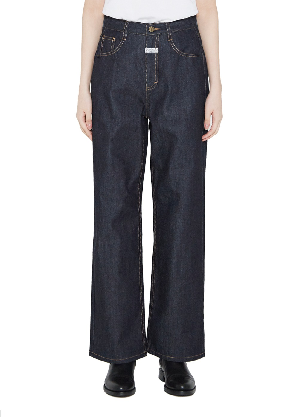 MARITHE W WIDE JEANS rigid blue
