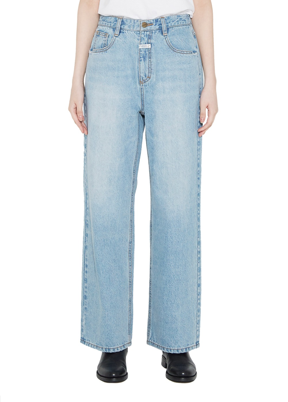 MARITHE W WIDE JEANS light blue