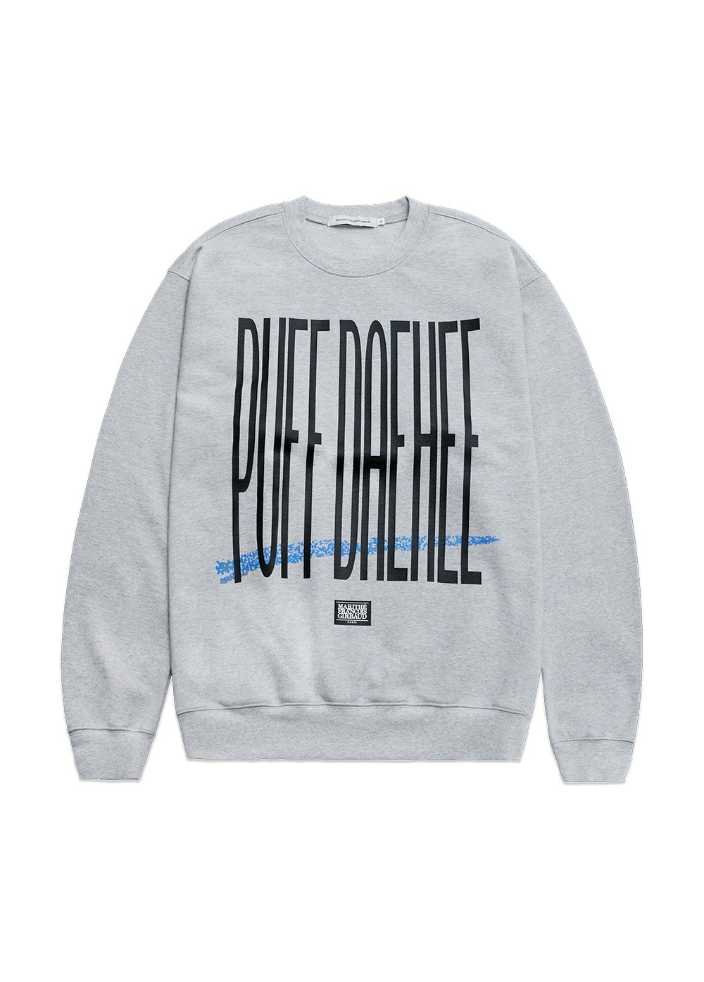 MARITHE X 8BALLTOWN PUFF DAEHEE SWEATSHIRT heather gray