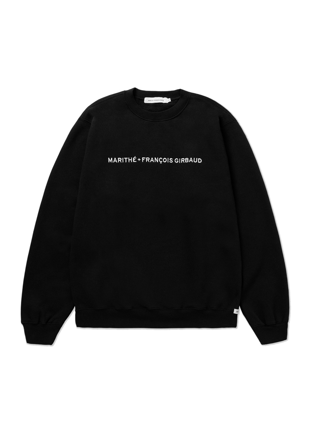 MARITHE FULL SIZE NAME LOGO SWEATSHIRT black