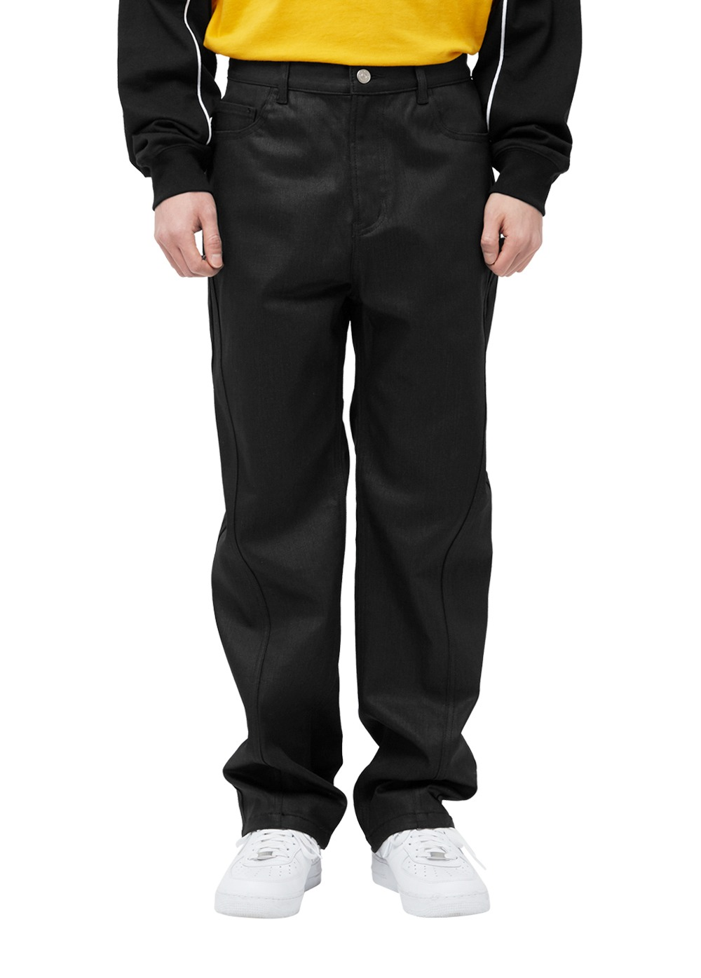LMC TWISTED SEAM COATED JEANS black