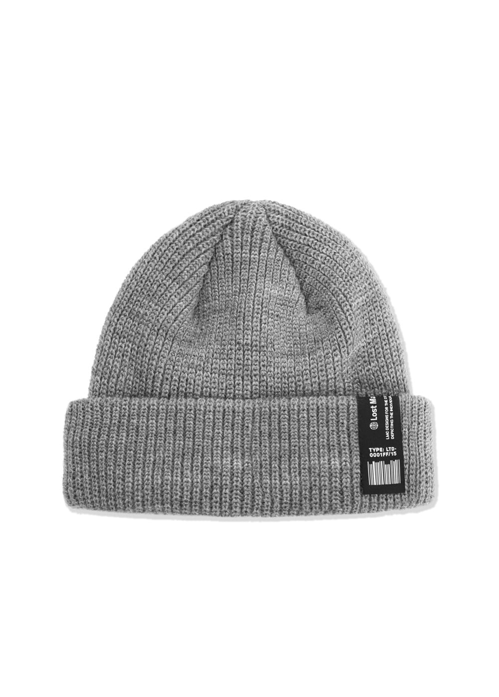LMC LABEL SHORT BEANIE heather gray