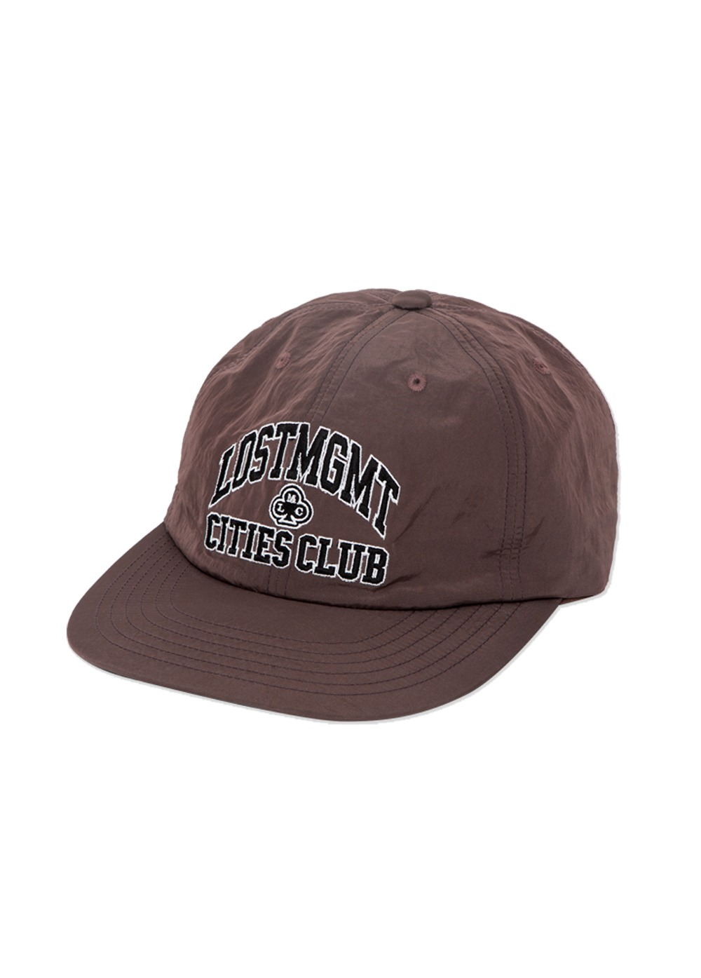 LMC NYLON CLUB ATHLETIC FLAT BILL CAP brown