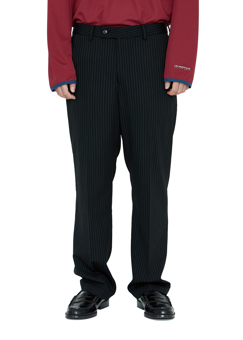 LMC PINSTRIPE SUIT PANTS black