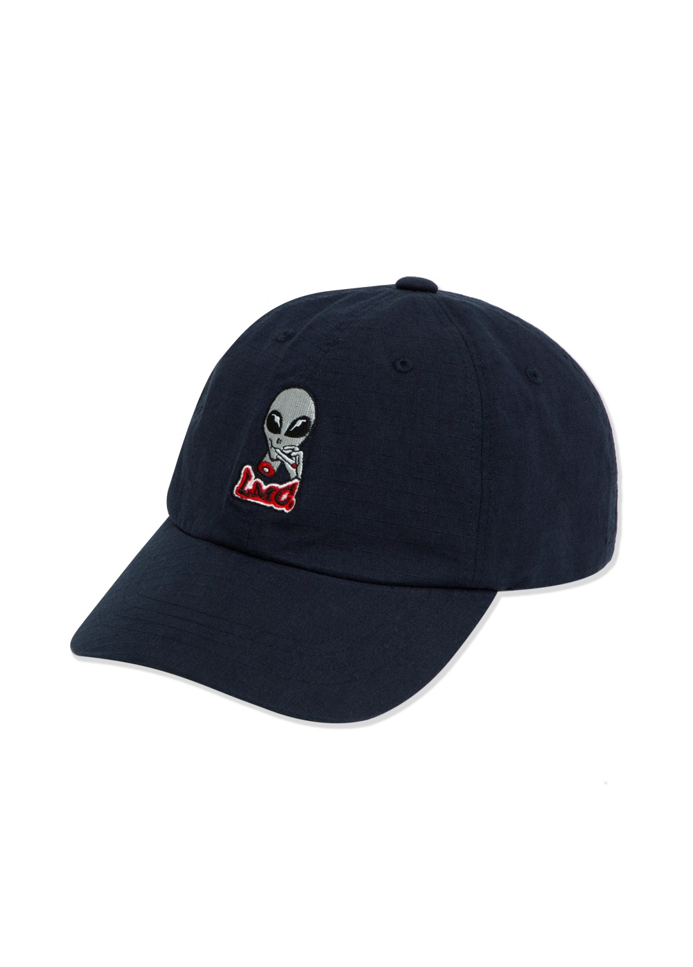 LMC RIPSTOP ALIEN 6 PANEL CAP navy