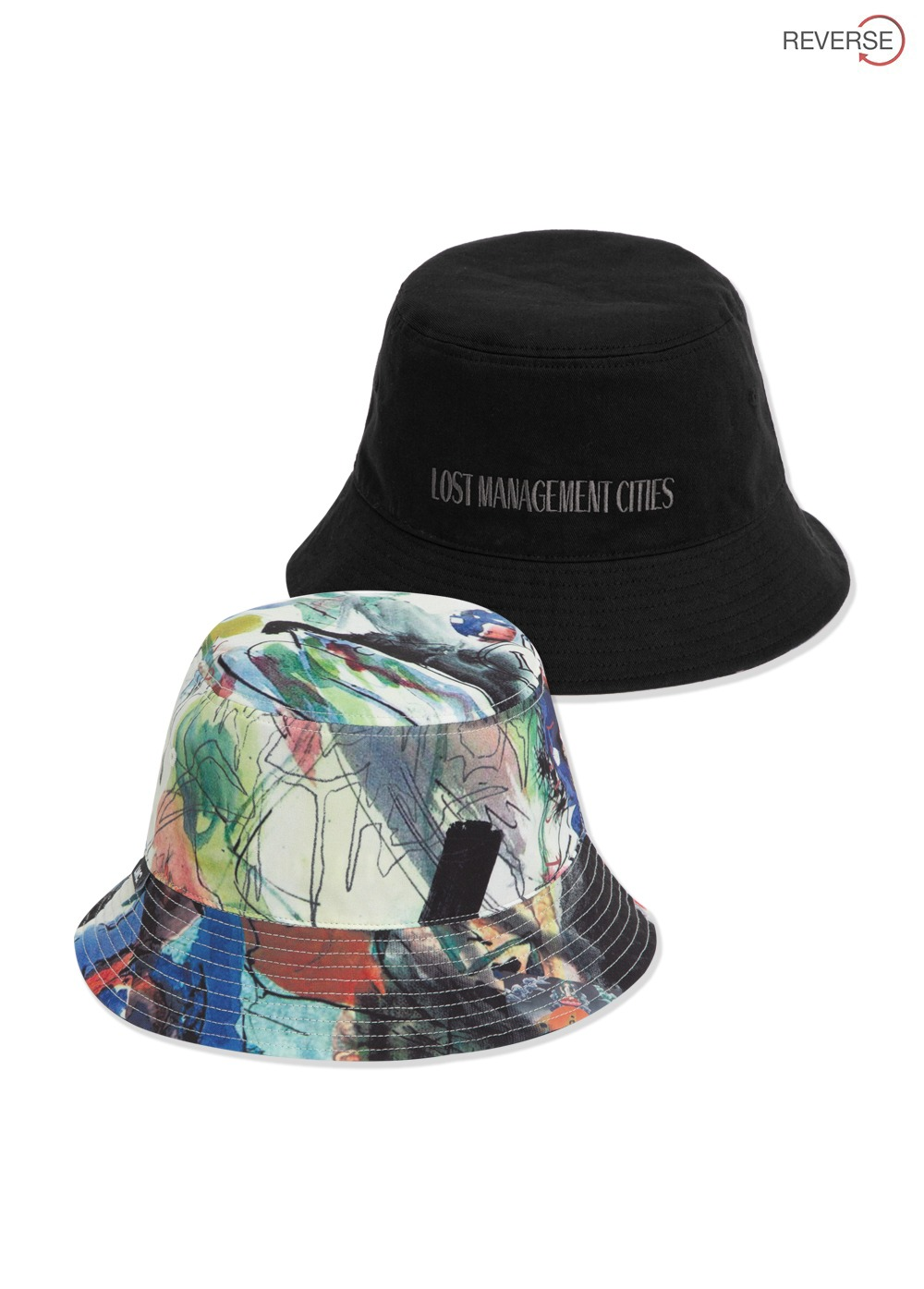 LMC ARTWORKS PAINTING REVERSIBLE BUCKET HAT black